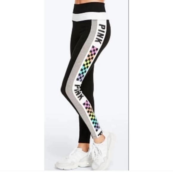 af0fa0ff52086 Victoria Secret Pink Checkered Leggings. M_5c732d085c44529a45586b87